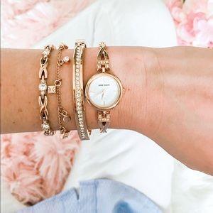 New Anne Klein Rose Gold Watch Set